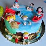 עוגה מעוצבת למסיבת סיום בגן - החופש הגדול!