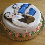 עוגות מצויירות על בצק סוכר