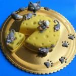 עוגה מעוצבת חתול ועכברים