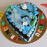 עוגת בצק סוכר לגן - חופשה נעימה