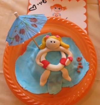 הפעלת בצק סוכר ליום הולדת 9 - סדנת עיצוב עוגה אישית