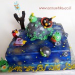 Angry birds in space birthday cake