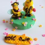 טופר דבורים מבצק סוכר לראש השנה