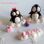דמויות של פינג ופינגה מבצק סוכר