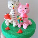 חתוילם מבצק סוכר לעוגה
