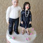 מתנה לחתונה - דמויות מפוסלות בבצק סוכר