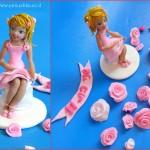 דמות של רקדנית להנית על עוגת יום ההולדת
