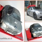 עוגת מכונית BMW מבצק סוכר