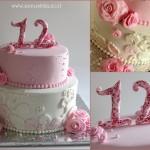 Bat Mitzva fondant Cake