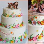 עוגה מעוצבת בבצק סוכר לבת מצווה