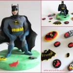 טופר עם דמות של באטמן לעוגה