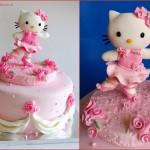 עוגה הלו קיטי מבצק סוכר
