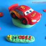Mcqueen car - fondant topper