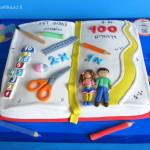 עוגה למסיבת יום ה-100 לכיתא א'