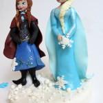טופר של אלזה ואנה מבצק סוכר לקישוט עוגה