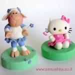 הלו קיטי והכבשה ניקי מבצק סוכר