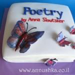 עוגה מעוצבת בצורת ספר