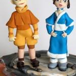 Fondant Aang and Katara