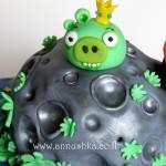 עוגת יום הולדת אנגרי בירדס בחלל