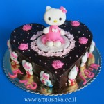 עוגת הלו קיטי מבצק סוכר