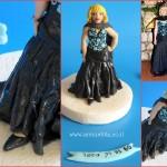 ערכה לקישוט עוגה עם דמות מפוסלת של אשה