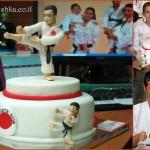 Karate fondant cake