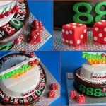 Fondant casino cake for 888