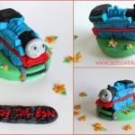 ערכה לקישוט עוגה עם דמות של תומס